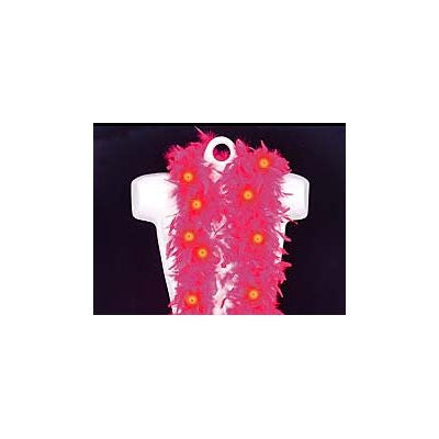 LED Flashing Pink Feather Boa - FeatherBoaShop.com