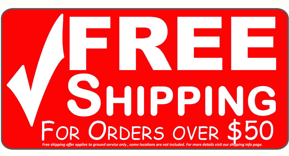 Free Shipping on orders over $50.00