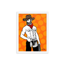 Load image into Gallery viewer, Framed photo paper poster Cowboy