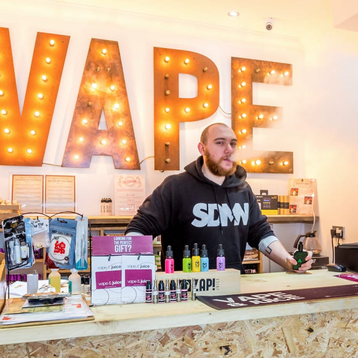 'The Face Behind the Clouds' with JP at our Enfield vape shop.