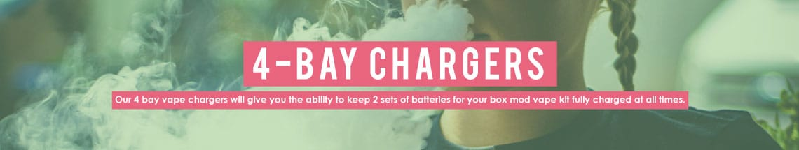 4 bay vape chargers