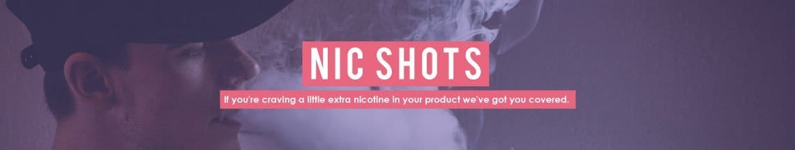 Nic shots or Nicotine Shots for boosting liquids to 3mg from 0mg