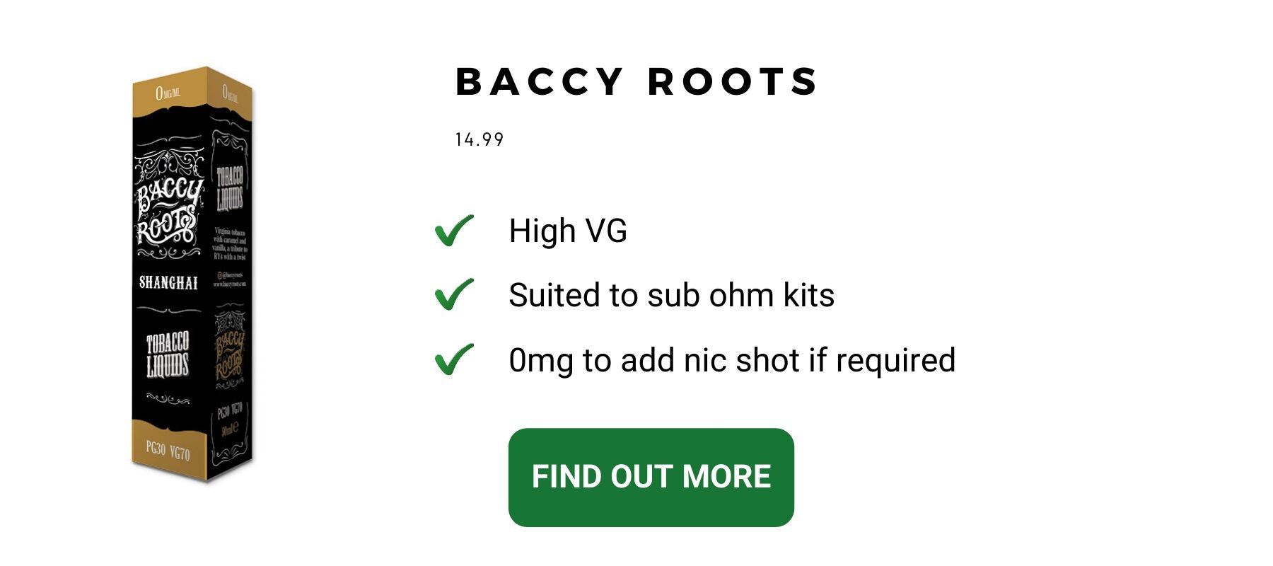 Baccy Roots Best tobacco e liquids to help you quit