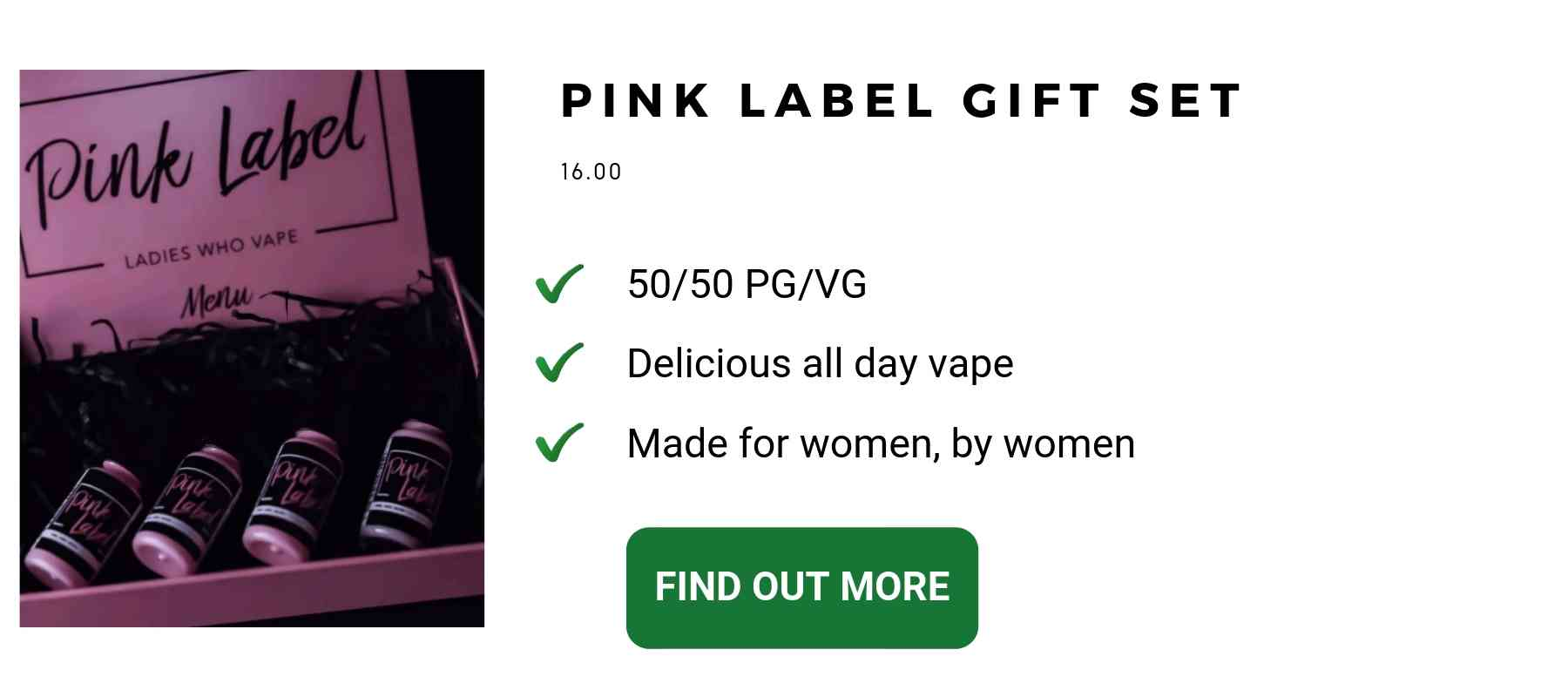 pink label vape juice gifts for women