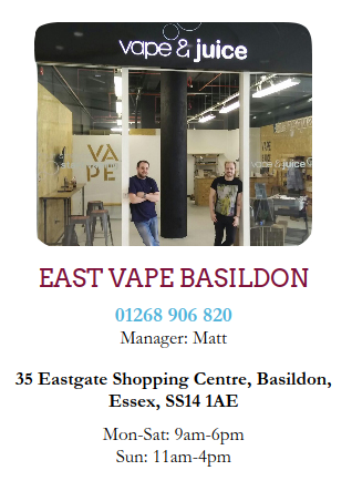 vape shop near me electronic cigarettes eliquid basildon wickford essex