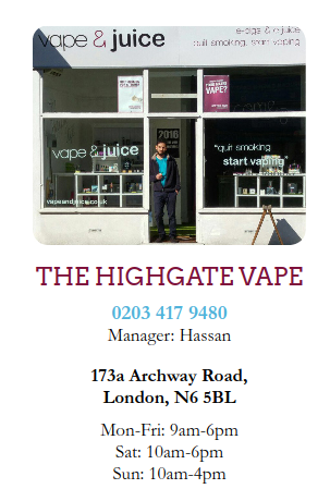 Highgate Archway vape ecig juice eliquid shop london