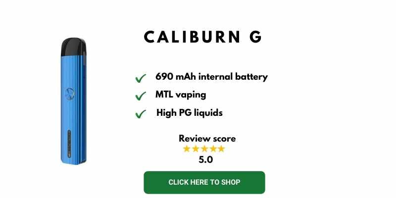 Caliburn G Best Vape Starter Kits