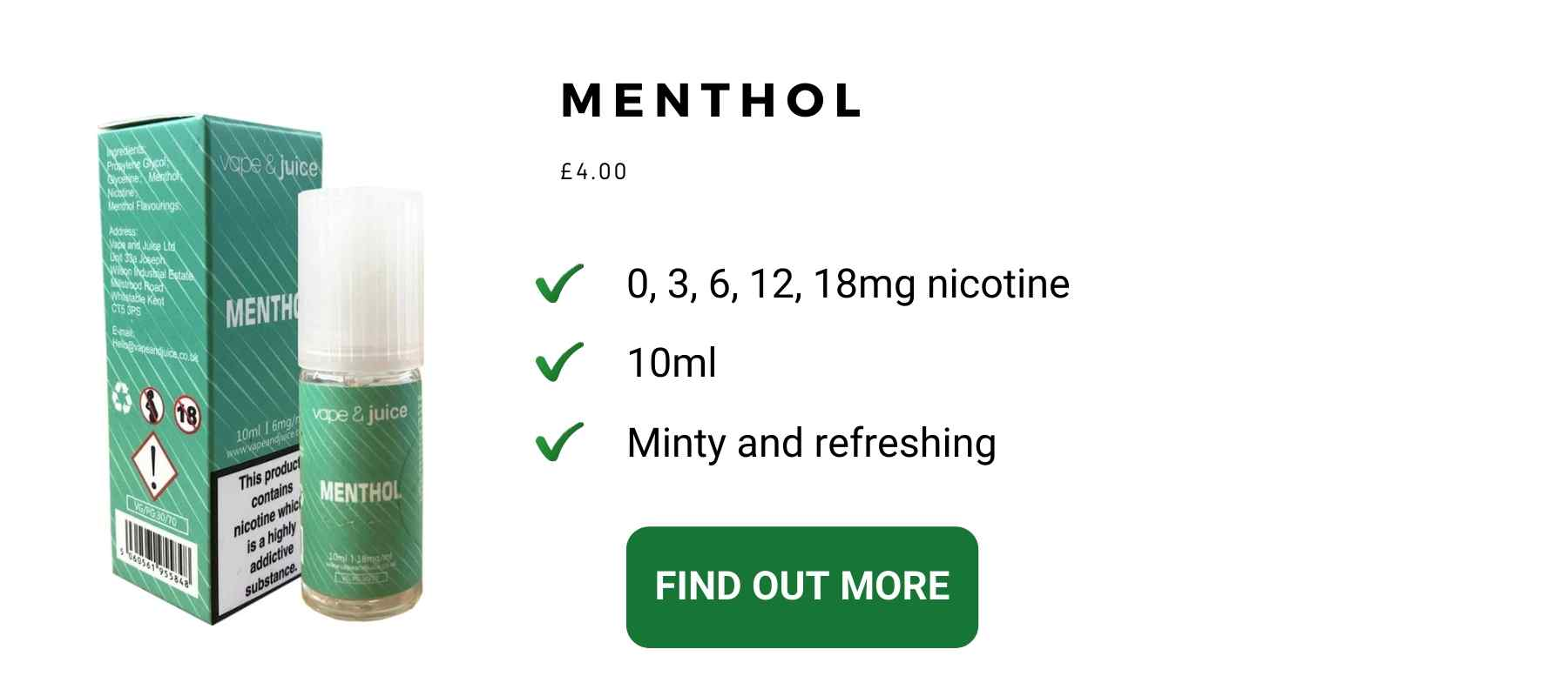 mint vape juice starter kit