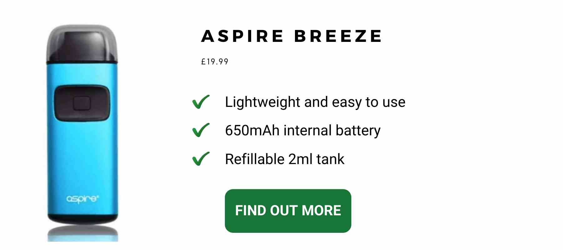 Aspire Breeze 2ml tank Blue