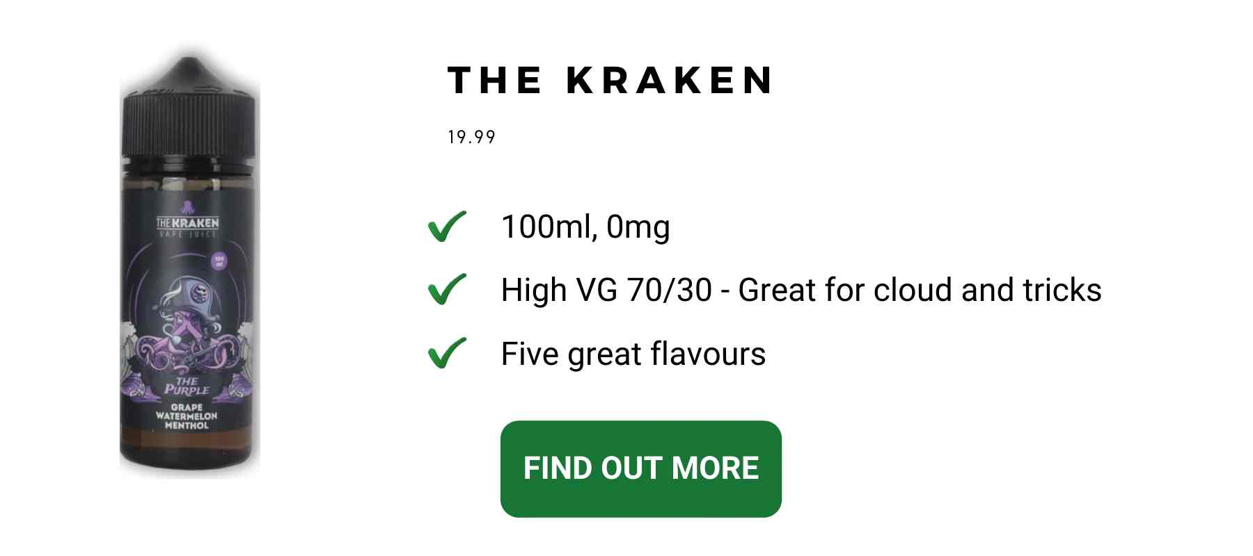 the kraken high vg menthol
