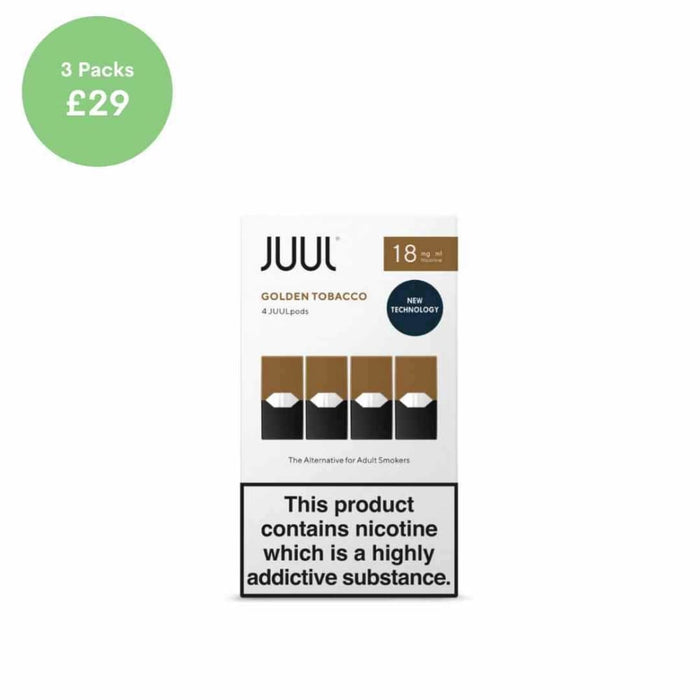 Juul Pods | Golden Tobacco 18mg 4 Pack - pods
