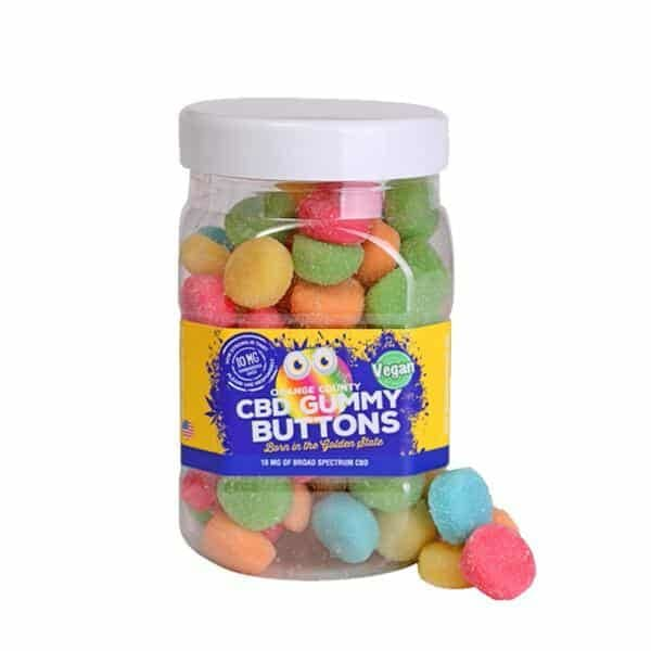 Orange County CBD 50mg Gummy Buttons – Large Pack - CBD Gummy Bears