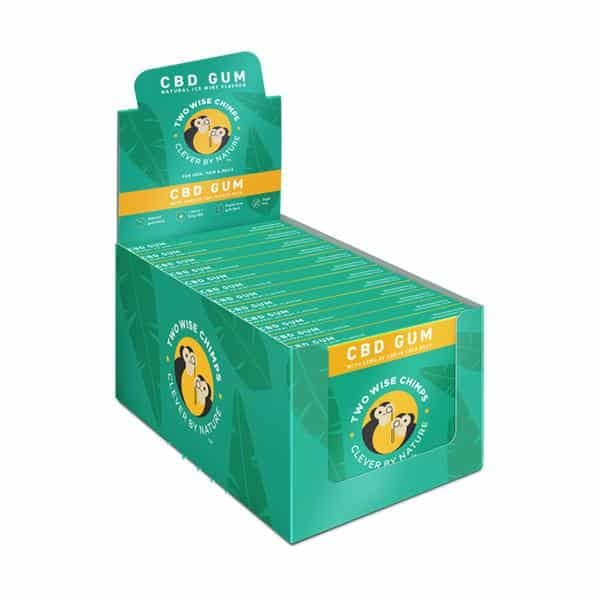 Two Wise Chimps CBD Chewing Gum 45mg - CBD Gummy Bears