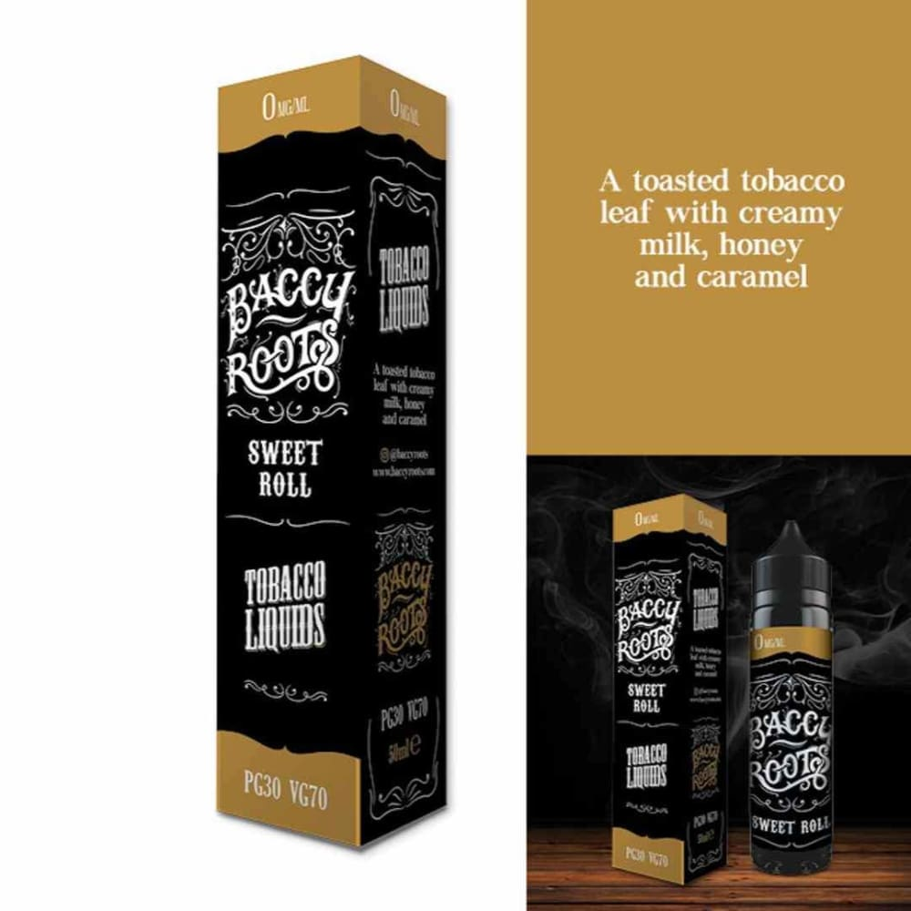 Baccy Roots Eliquid Sweet Roll - Juice