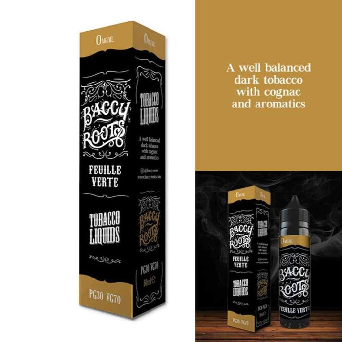 Baccy Roots Eliquid Feuille Verte - Juice