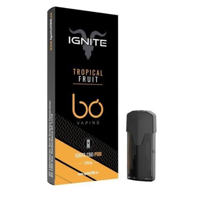 Ignite CBD Vape Pod 250mg - Recharge - Tropical Fruit - pods