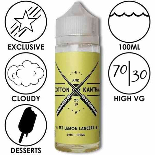 Lemon Lancers - Cotton And Kanthal - Juice