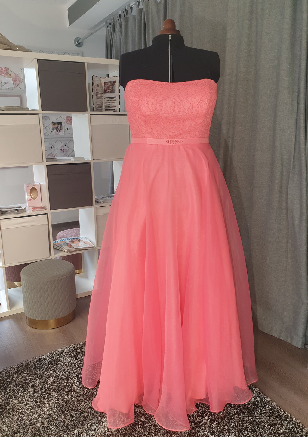 Ballkleid blush, bodenlang