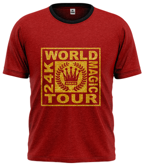 Camiseta Bruno Mars - 24k Tour