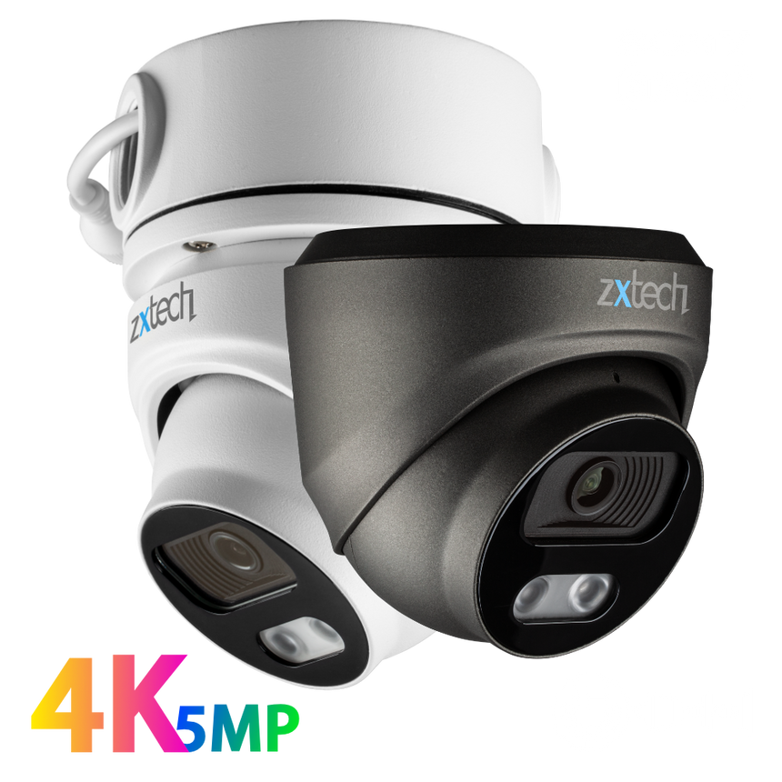 Zxtech MegaValue AI 4K Face Detection Built-in Mic 2.8mm PoE IP Security Camera