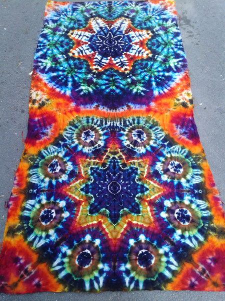 Tie-Dyed Mandala Door Curtain