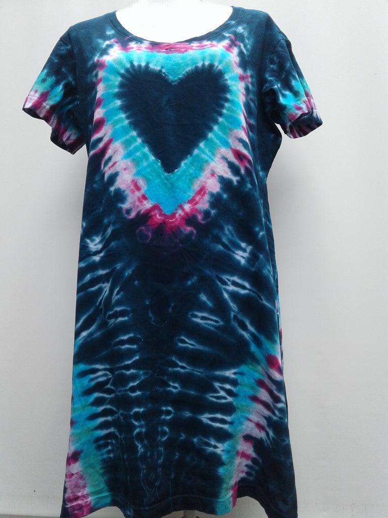 """The Blues"" Heart Pattern Beach Cover-Up"