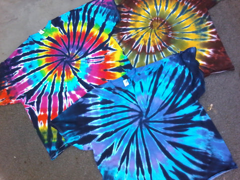 Tie Dye Spiral 3-Pack (bold colors)