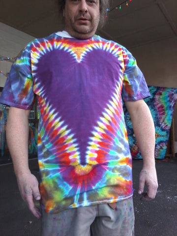 Really BIG Heart Tie-Dye Plus-Size Tall Beefy-T® Shirt