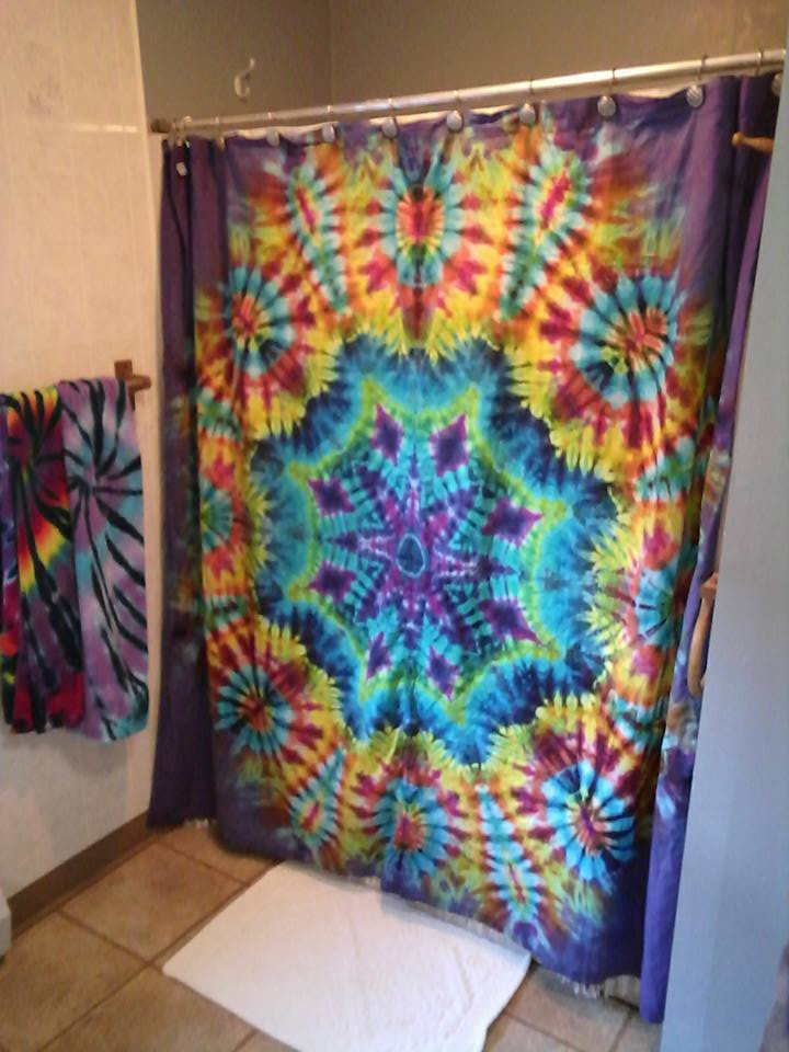 Perfect Tie Dyed Mandala Shower Curtain
