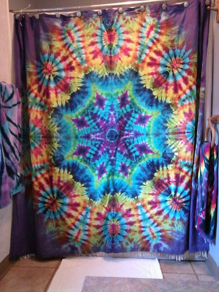 Exceptionnel ... Tie Dyed Shower Curtain ...