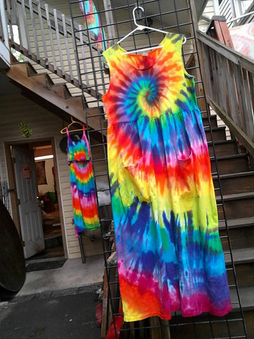 2-Pocket Rainbow Farmers Dress