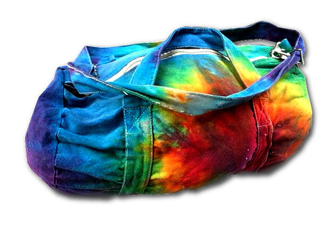 Rainbow Tie-Dye Cotton Canvas Duffel Bag