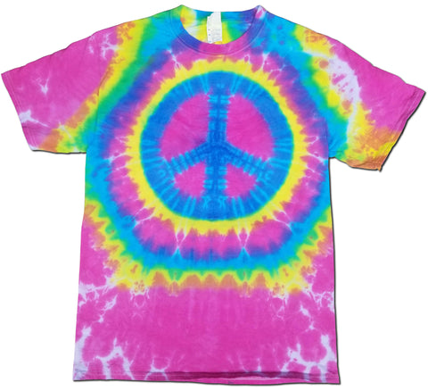 Peace Sign Patterned T-Shirt
