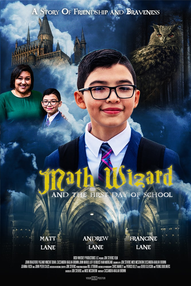 Personalizable harry potter movie poster with your own photo and titles