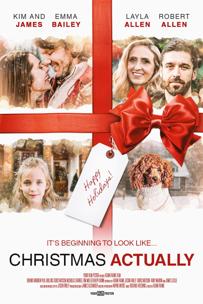 Customizable christmas movie poster inspired by Love Actually.
