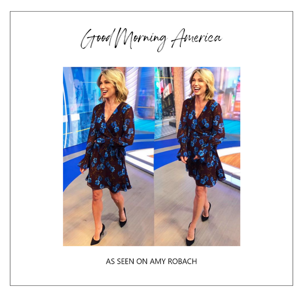 Amy Robach wearing Alexia Admor Dress on Good Morning America