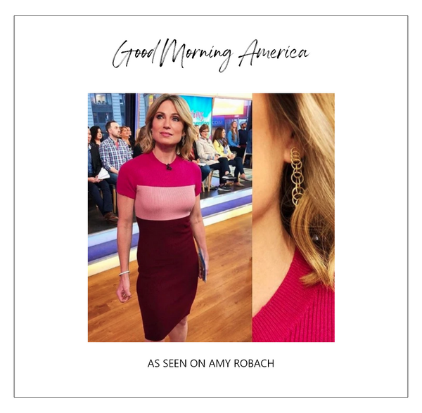 Amy Robach wearing Alexia Admor on Good Morning America