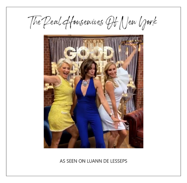 Real Housewife of New York Luann wearing Alexia Admor Dress on Good Morning America