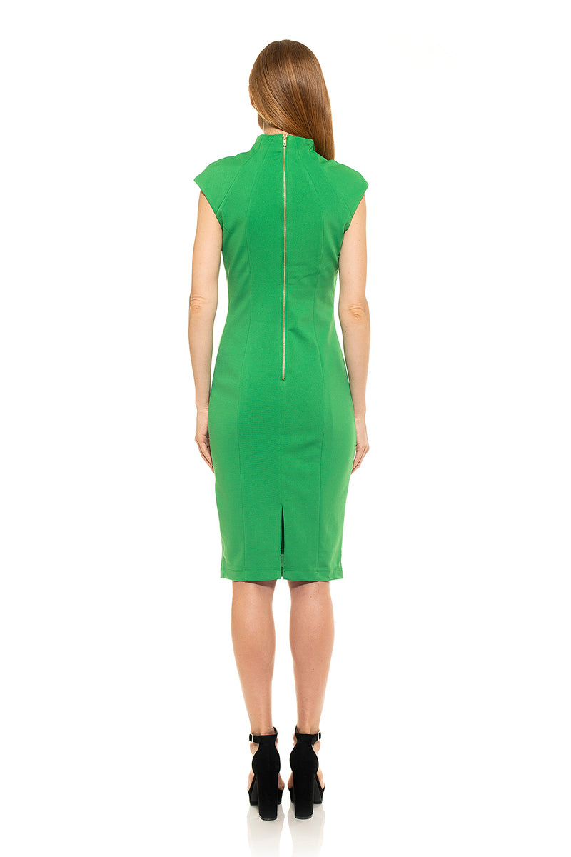 Katrina Military Midi Dress - ALEXIA ADMOR