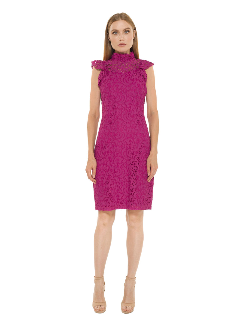 Kendall Lace Cap Sleeve Sheath Dress