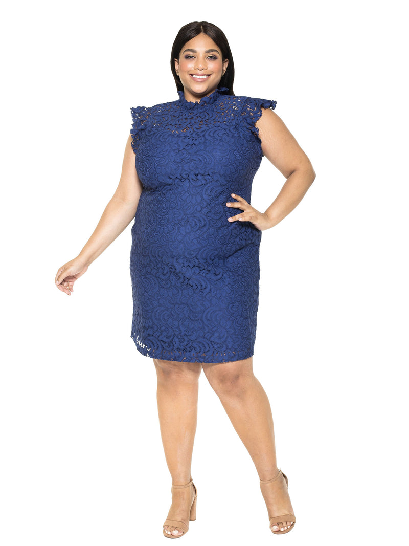 Kendall Lace Cap Sleeve Sheath Plus Size