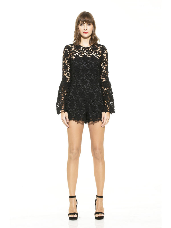 Bell Sleeve Lace Romper [product_type)
