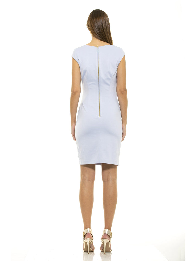 Brooke Asymmetrical Ruched Sheath [product_type)
