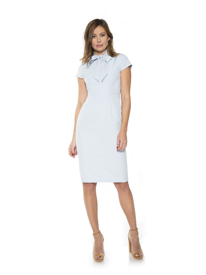 Carolina Tie Sleeve Cap Sleeve Sheath Dress