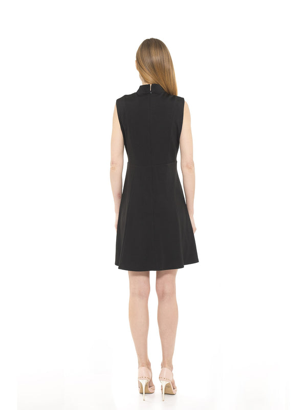 Adeyln High Neck Fit and Flare Dress - ALEXIA ADMOR