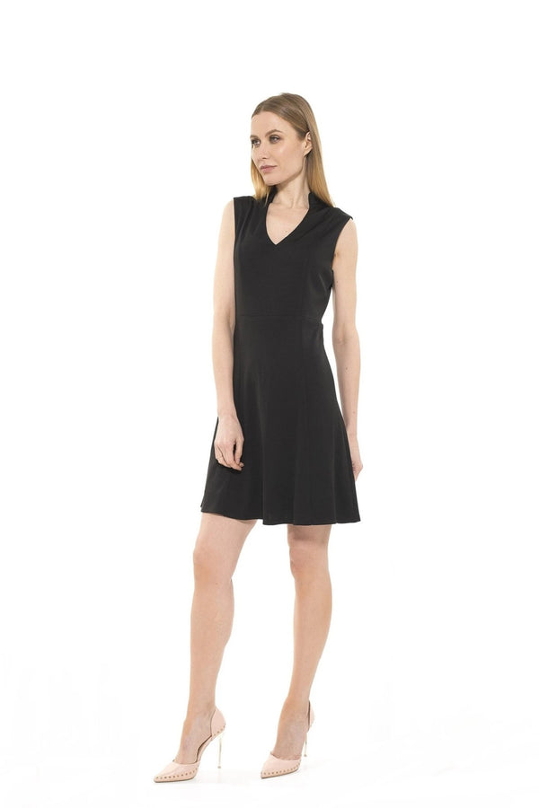 Adeyln High Neck Fit and Flare Dress [product_type)
