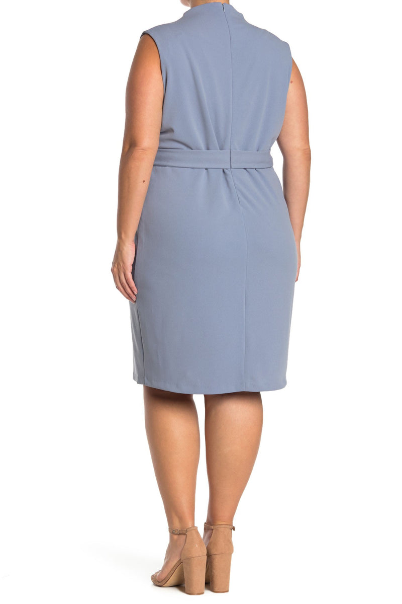 Savannah Sleeveless Wrap Sheath - Plus Size