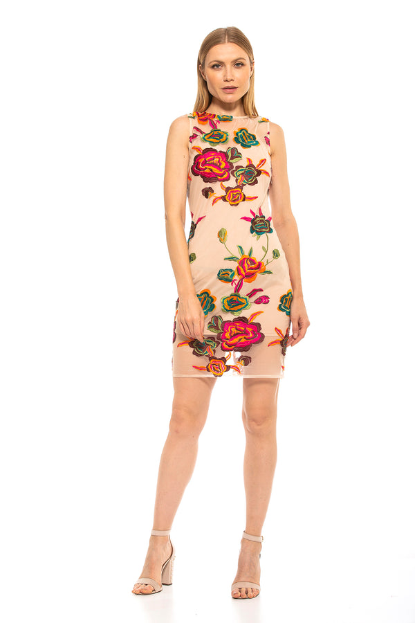 Palmer Halter Embroidered Sheath [product_type)