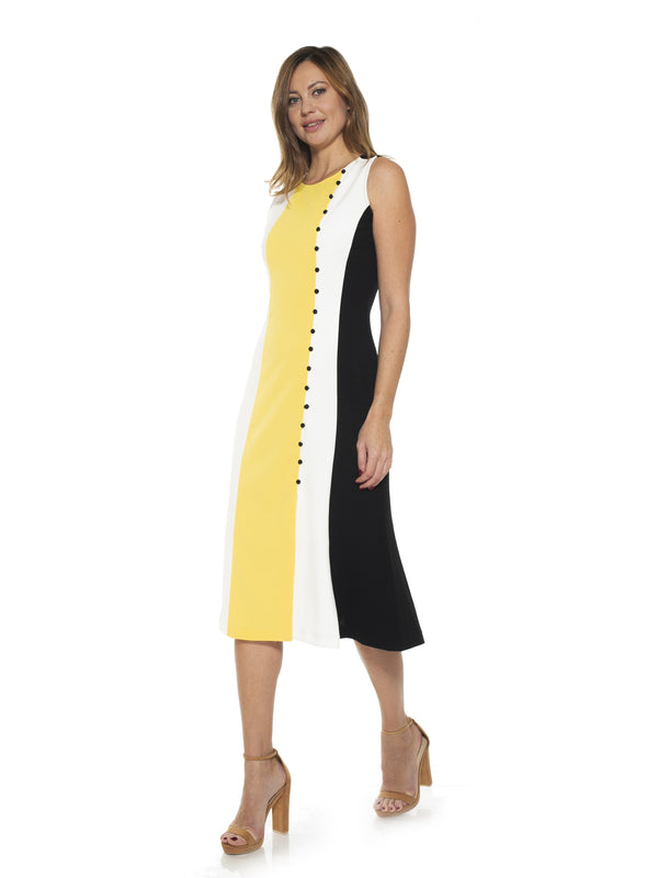 Anna Midi Colorblock Dress
