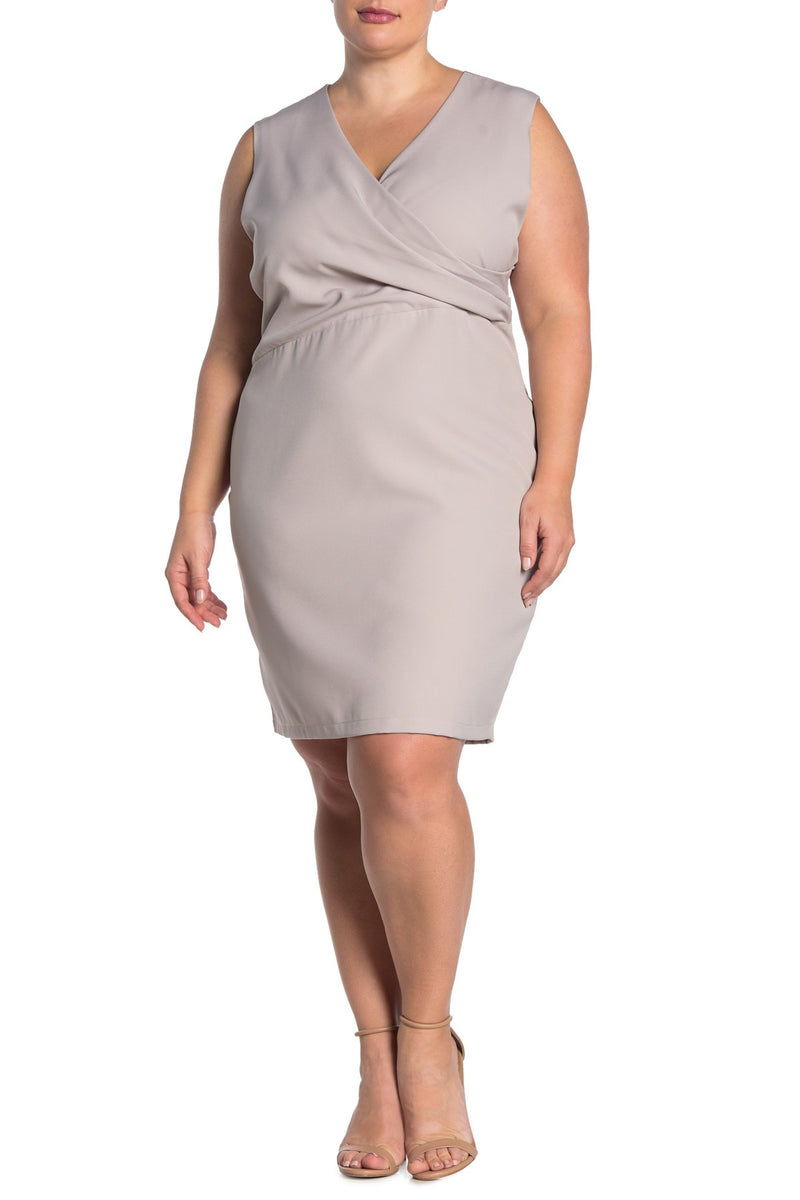 Kylie V Neck Side Ruched Dress - Plus Size